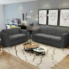 vidaXL sofa stoffsofa 5-sitzer gepolstertes sofa lounge sofa couch sitzmöbel dunkelgrau,  #5S...