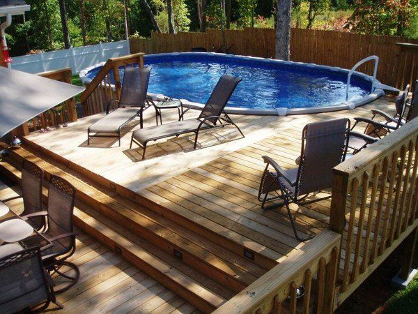 Above ground pool deck plans, design ideas and useful tips .