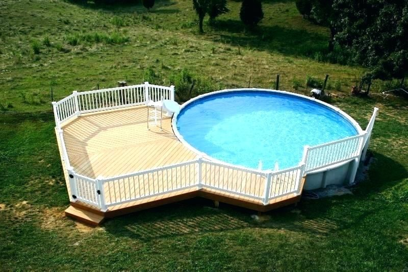 above ground pool deck kits home depot - Google Search | Pool deck .