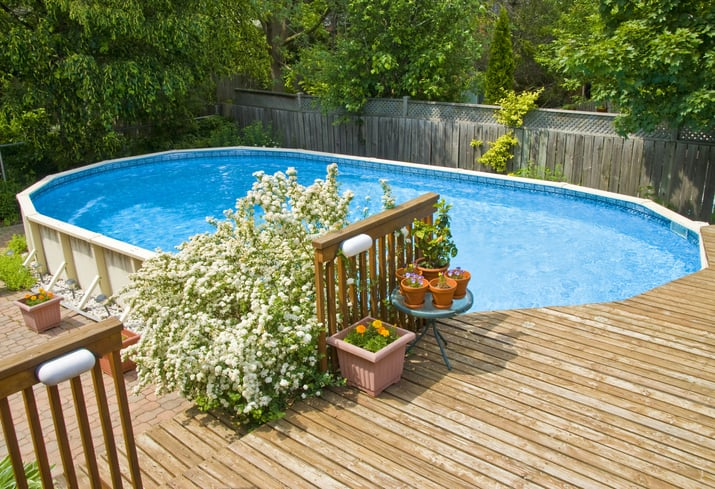 How to Build Your Own Above Ground Pool Deck | Yard Surf