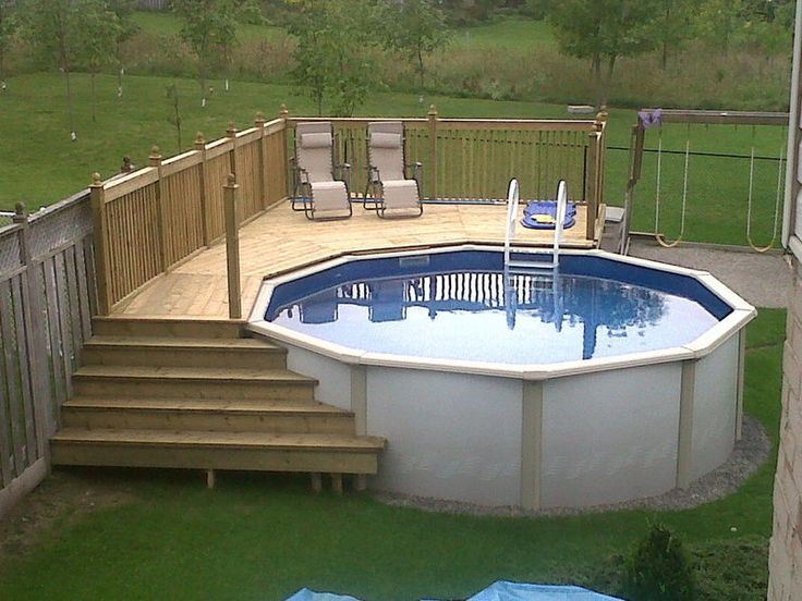 Above Ground Pool Deck Ideas On a Budget | the most common built .