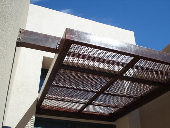Steel Awning - Modern - Patio - Albuquerque - by Modulus Desi