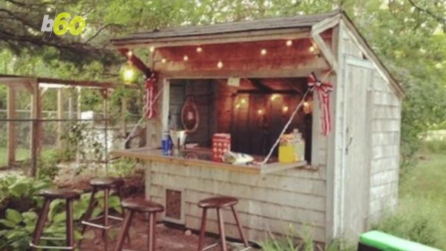 Forget the man cave, backyard bar sheds are the way to