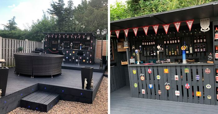 This Pallet Bar In My Backyard Cost Me Only $112 To Ma