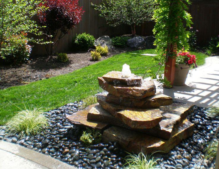 Stone Bubbler Fountains | bubbler fountain and falls strategically .