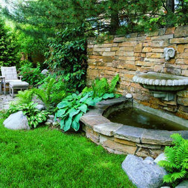 Backyard Garden with Fountain Beautiful Backyard Garden Ideas .