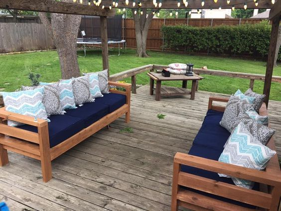 Ana White | Outdoor 2x4 Sofas - DIY Projects | Diy outdoor .