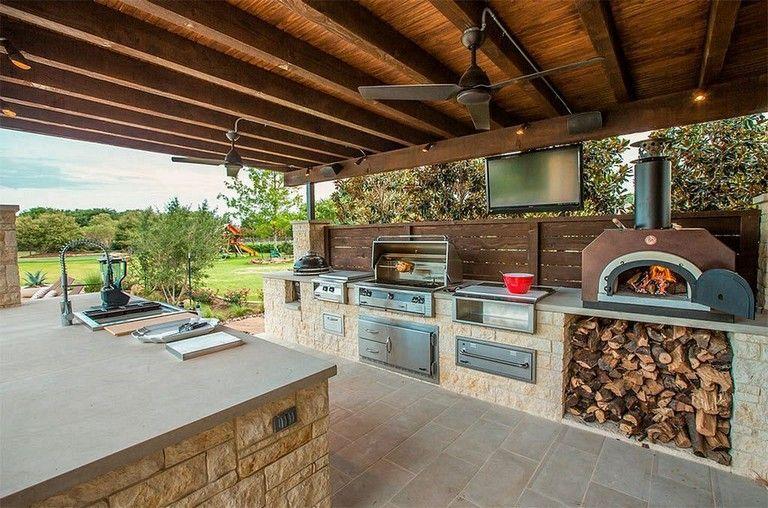 23+ Inspiring DIY Open Kitchen Design in The Backyard Equipped a .