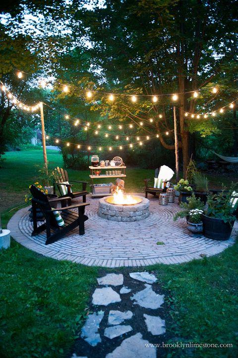 32 Backyard Lighting Ideas - How to Hang Outdoor String Ligh