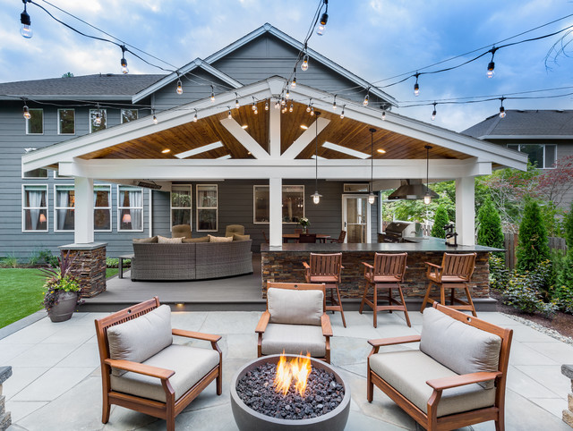 Sammamish Outdoor Living and Backyard Makeover - Transitional .