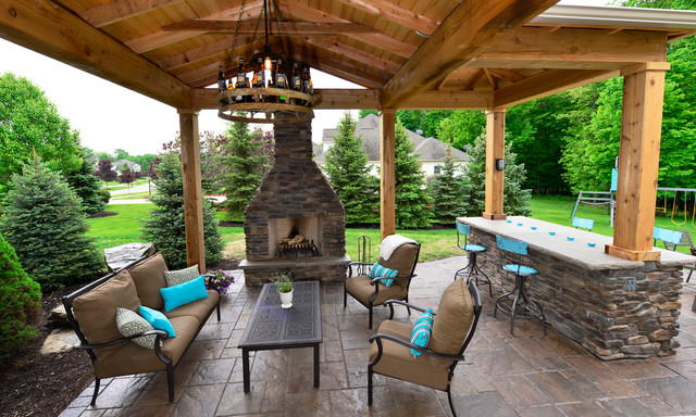 Backyard Patio & Pavilion - Rustic - Patio - Cleveland - by THE .