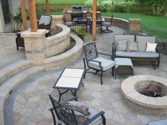 backyard Patio - Traditional - Patio - Chicago - by American .