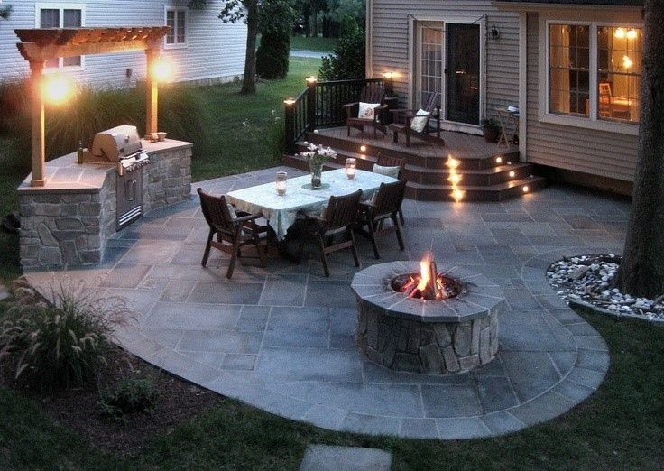 would be an awesome back yard | Backyard seating, Cozy backyard .