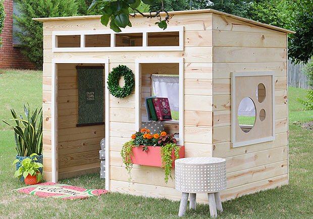 How to Build a Backyard Playhouse | The Garden Glo