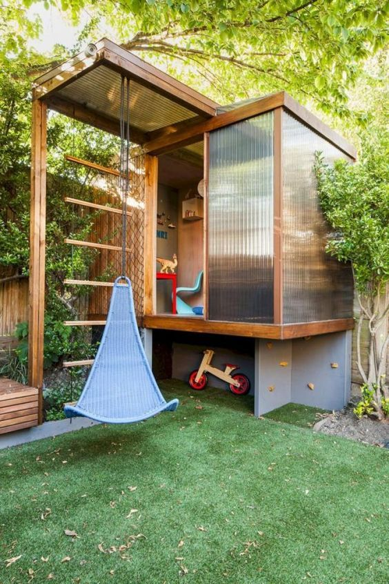 fancy backyard playhouse 5 - mybabyd