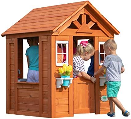 Amazon.com: Backyard Discovery Timberlake All Cedar Wood Playhouse .