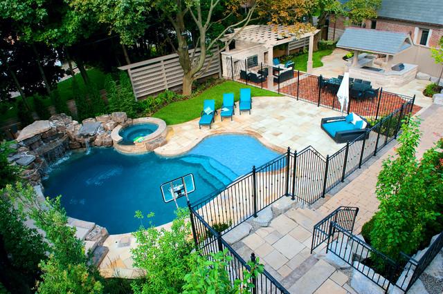 A Backyard Pool Oasis - Traditional - Pool - Toronto - by Gib-San .
