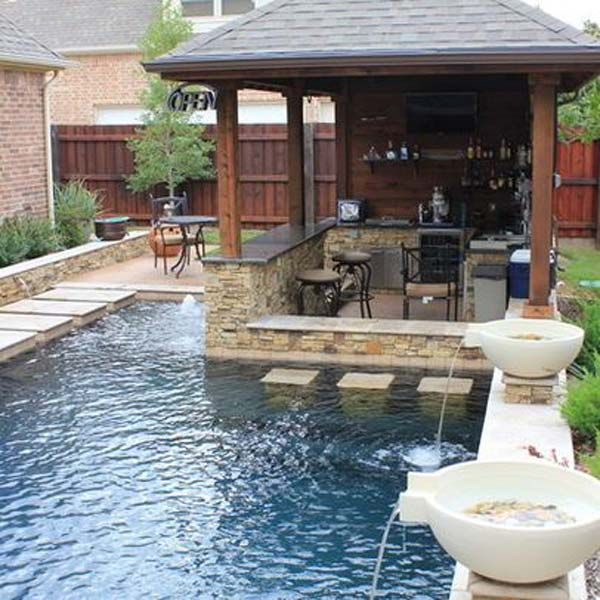 25+ Fabulous Small Backyard Designs with Swimming Pool   Small .