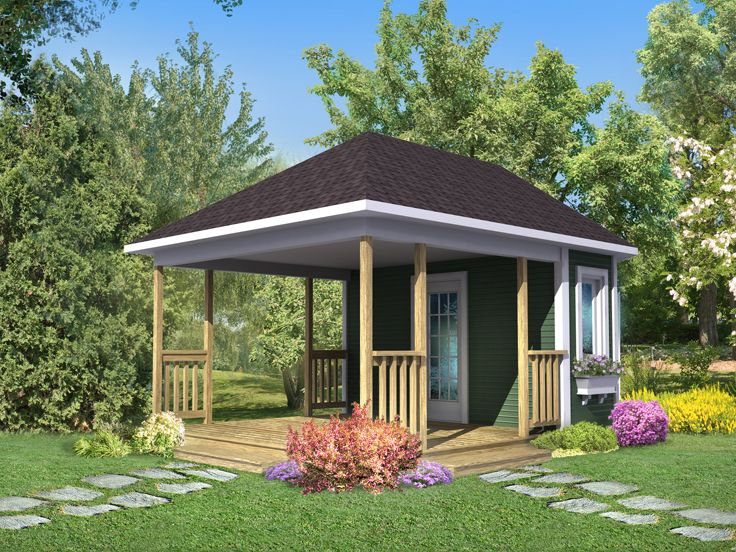 Storage Shed Plans   Backyard Storage Shed Plan with Covered Porch .