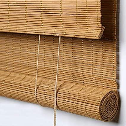 Amazon.com: PASSENGER PIGEON Bamboo Roller Shades, Light Filtering .