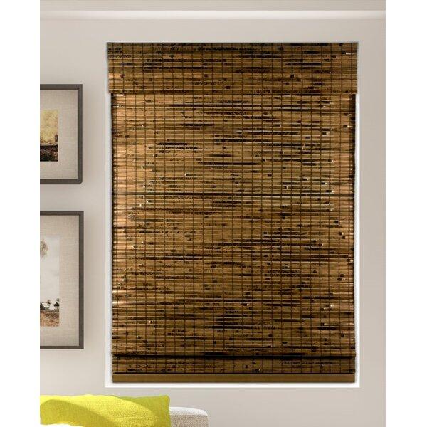 Mistana Java Deep Cordless Lift Bamboo Semi-Sheer Brown Roman .