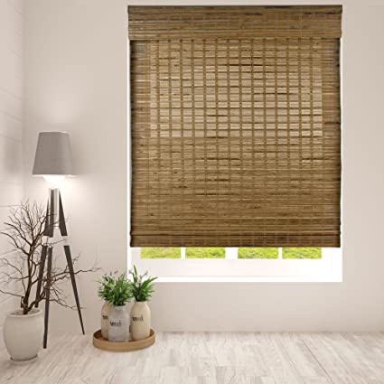 Amazon.com: Arlo Blinds Dali Native Cordless Bamboo Shades Blinds .