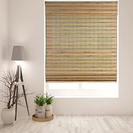 Amazon.com: Arlo Blinds Cordless Tuscan Bamboo Roman Shades Blinds .