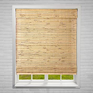 Amazon.com: Calyx Interiors Petite Rustic Roman Window Shades .