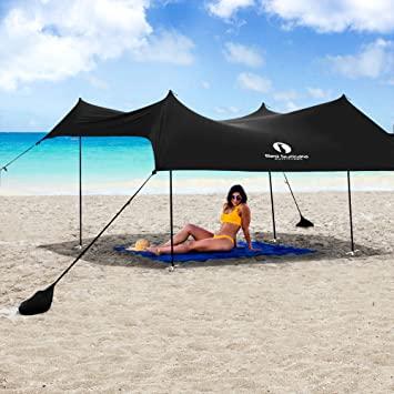 Amazon.com: Red Suricata Family Beach Sunshade - Sun Shade Canopy .