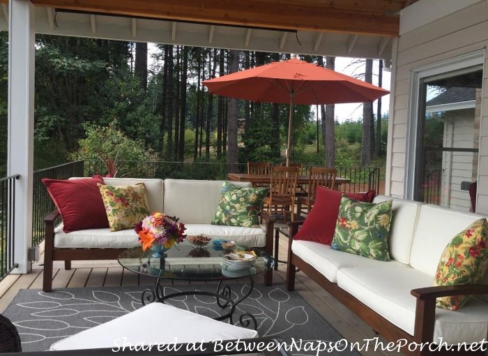 Deck Makeover: A Covered Porch & Room for Dining and Entertaining .