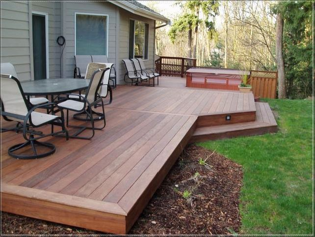 Small Deck Ideas that Are just Right | Small backyard decks, Deck .