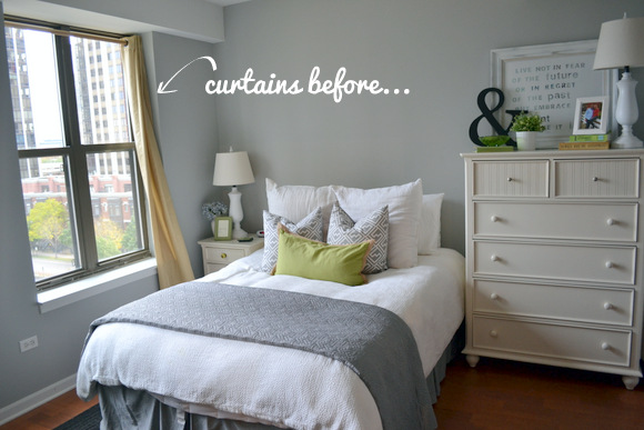 Window Treatments for a One Bedroom Space | DIY Playbo