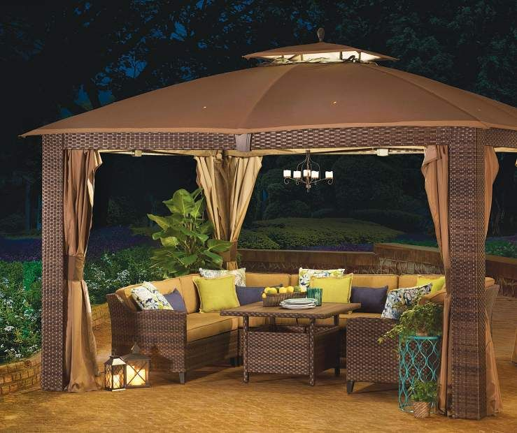 Buy a Wilson & Fisher Sonoma Gazebo and Modular Patio Seating .