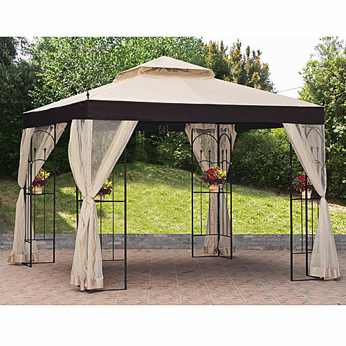 2010 Big Lots 10 x 10 Double Arch Gazebo SKU number 210017874 .