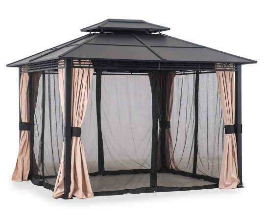 Wilson & Fisher Broadmoor Hard Top Gazebo, (10' x 12') | Big Lo