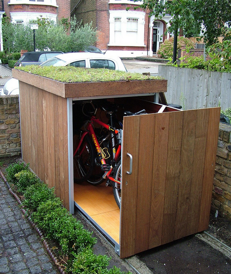 8 Ways to Store Your Bike That Look Cool | Bike storage, Bike shed .