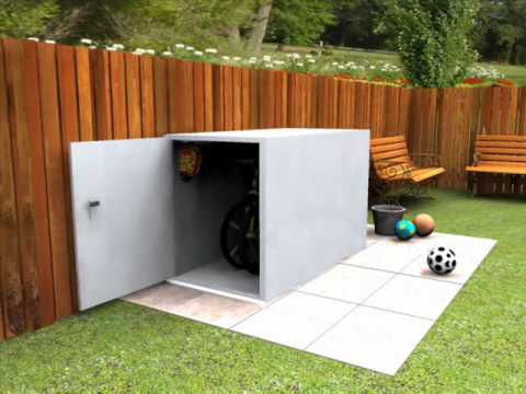 Secure cycle storage for 2 bikes - Keep your bikes stored safely .