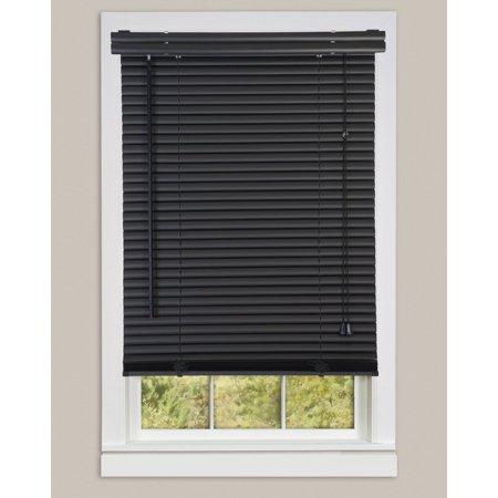"""Window Blinds Mini Blinds 1"""" Slats Black Venetian Vinyl Blind ."""