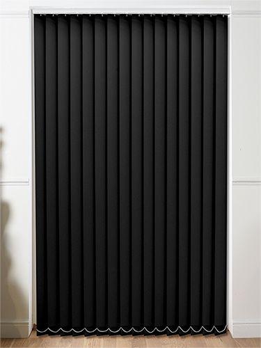 Sevilla Blackout Tranquility Black Vertical Blind from Blinds 2go .