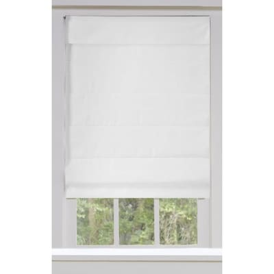 Allen + roth Snow Blackout Cordless Roman Shade (Actual: 34-in x .