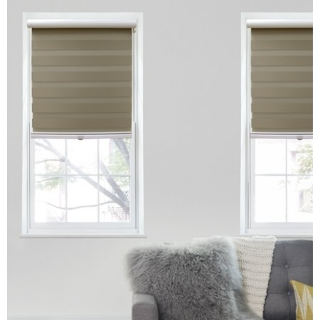 Elegance Zebra Blackout Roller Shades   Easy to install and a 110 .