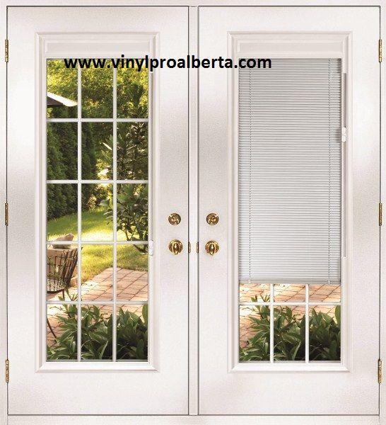 french doors exterior with built in blinds | French Doors & Garden .