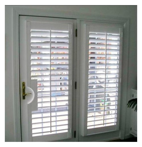 Blinds or curtains for french door