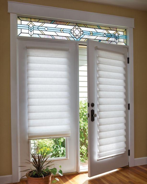 15 Brilliant French Door Window Treatments | Door coverings .