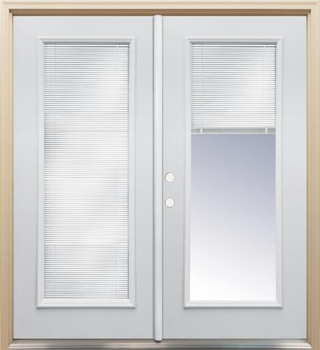 Mastercraft® Primed Steel French Patio Door with Lift-N-Tilt Mini .