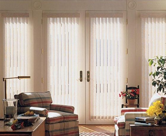 Simple Vertical Blinds for French Doors | Living room blinds .