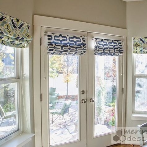 Roman Shades for French Doors | Shades for french doors, Blinds .