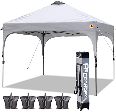 Amazon.com : ABCCANOPY Canopy Tent 10x10 Pop Up Canopy Outdoor .