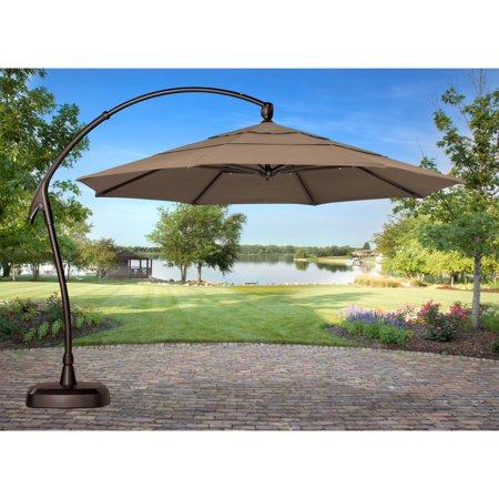 Treasure Garden 11 ft. Sunbrella Cantilever Octagon Offset Patio .
