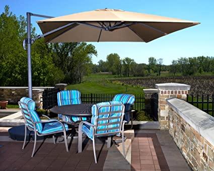 Amazon.com : Beautiful 10' Cantilever Pool & Patio Umbrella .
